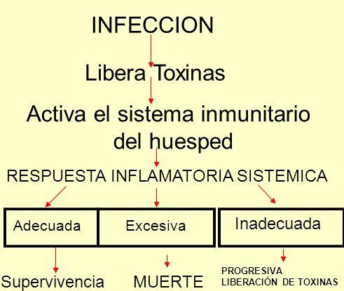 Activa el sistema inmunitario del huesped