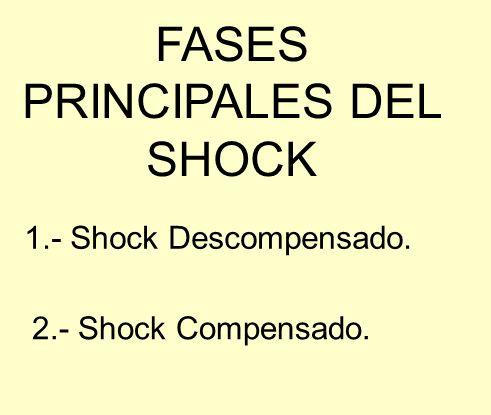 FASES PRINCIPALES DEL SHOCK