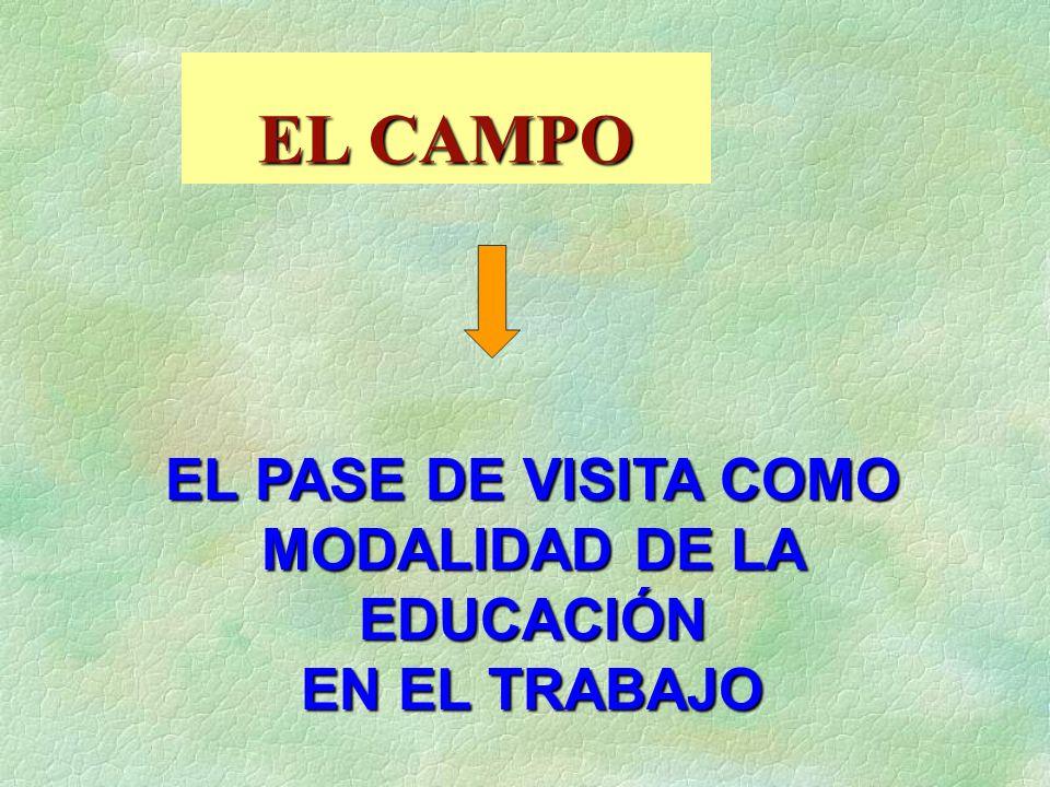 MODALIDAD DE LA EDUCACIÓN
