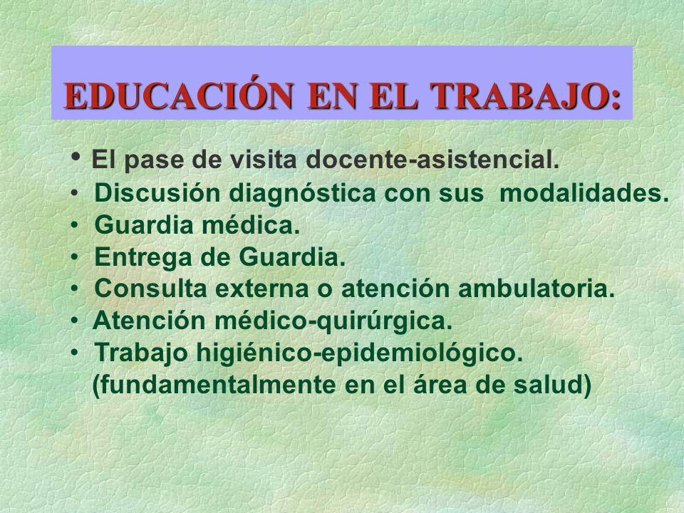EDUCACIÓN EN EL TRABAJO: