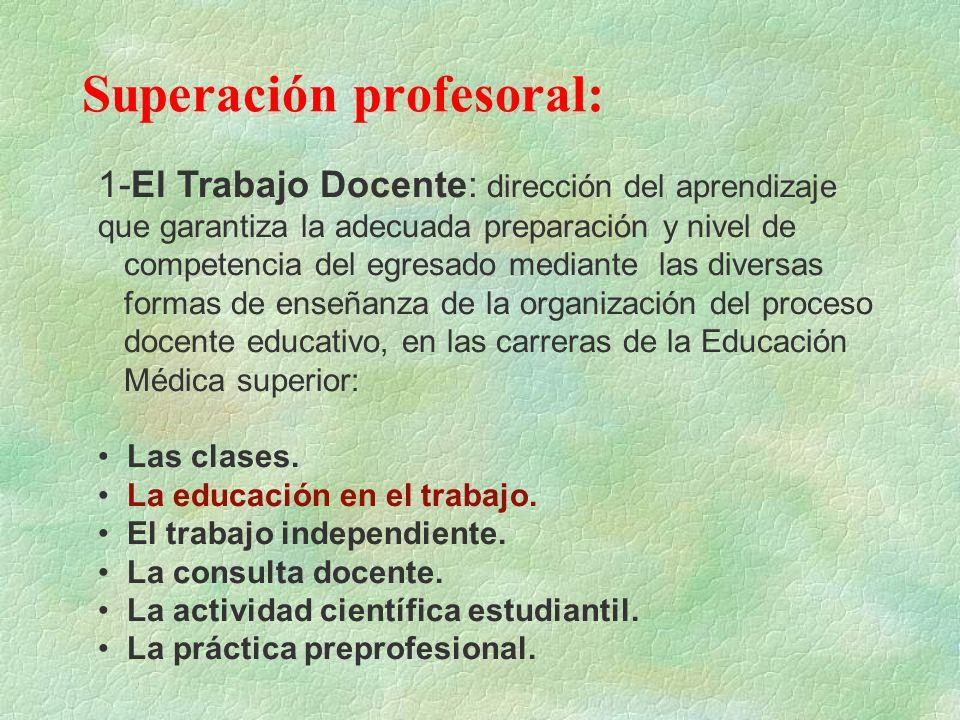 Superación profesoral: