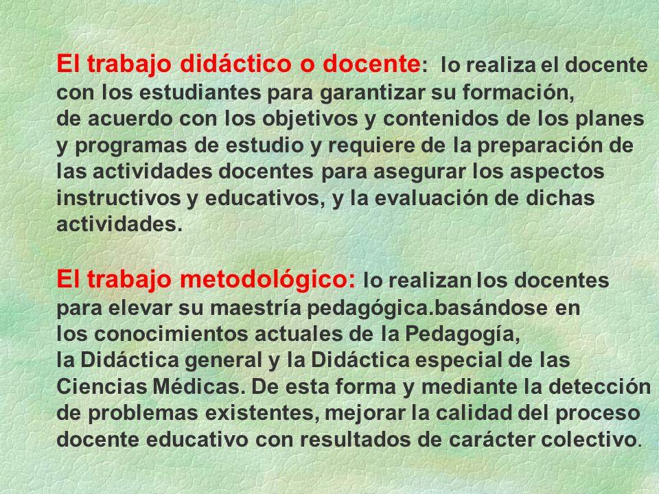 El trabajo metodológico: lo realizan los docentes