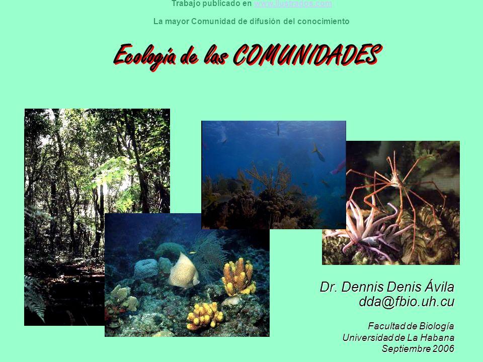Ecología de las COMUNIDADES