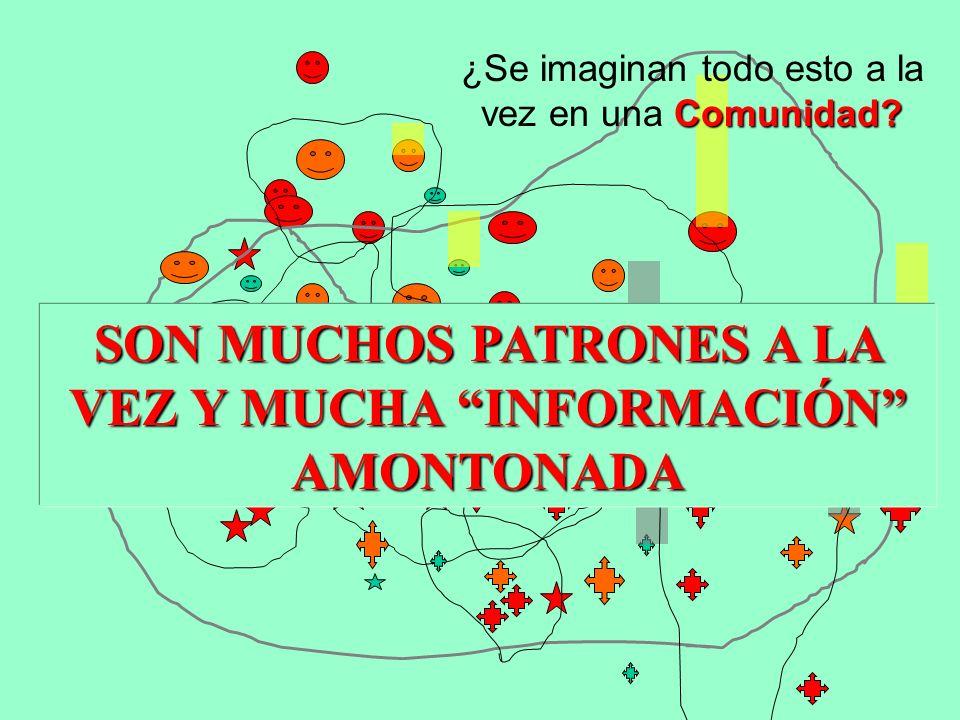 SON MUCHOS PATRONES A LA VEZ Y MUCHA INFORMACIÓN AMONTONADA