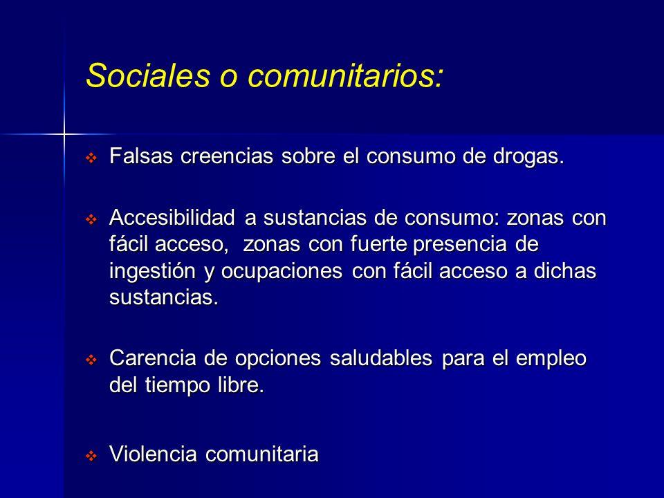 Sociales o comunitarios: