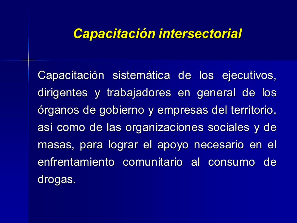 Capacitación intersectorial