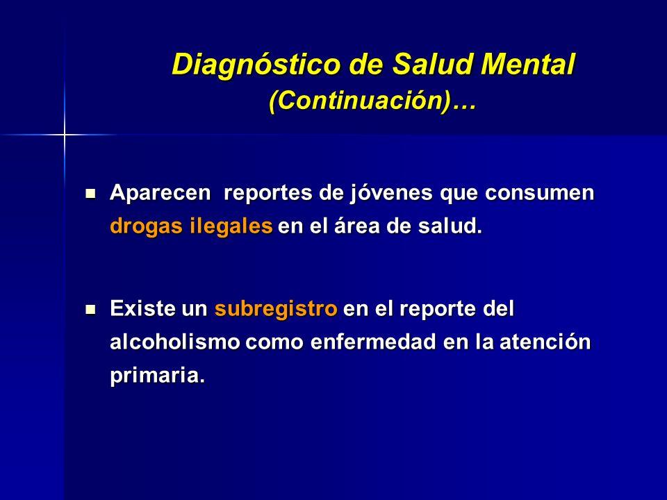 Diagnóstico de Salud Mental (Continuación)…
