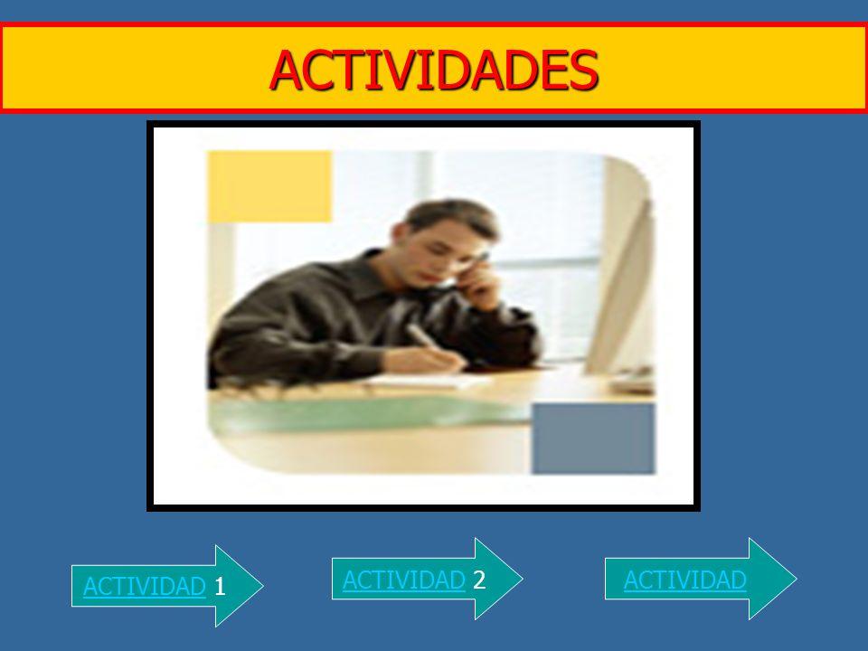 ACTIVIDADES ACTIVIDAD 2 ACTIVIDAD ACTIVIDAD 1