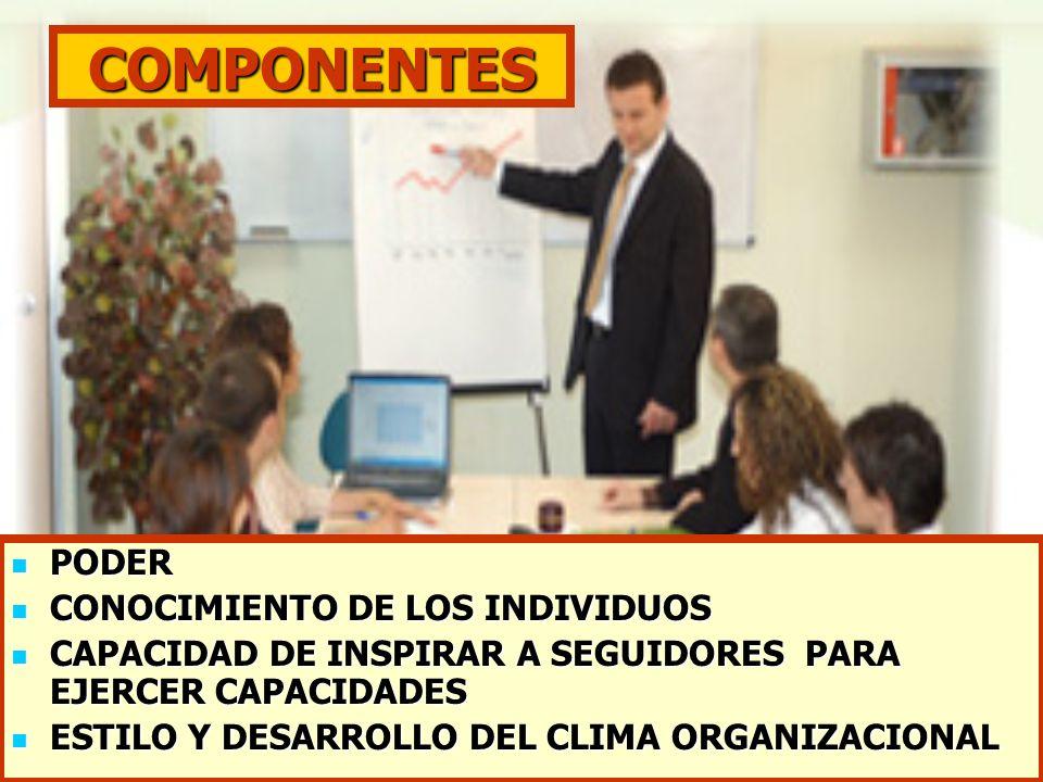 COMPONENTES PODER CONOCIMIENTO DE LOS INDIVIDUOS