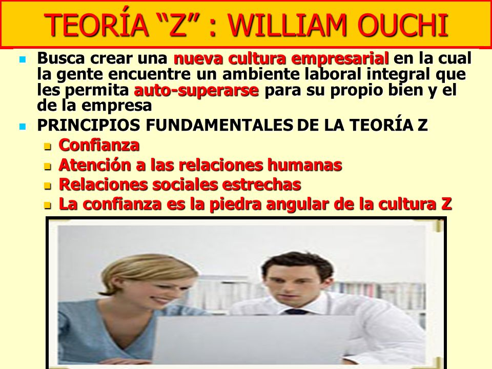 TEORÍA Z : WILLIAM OUCHI