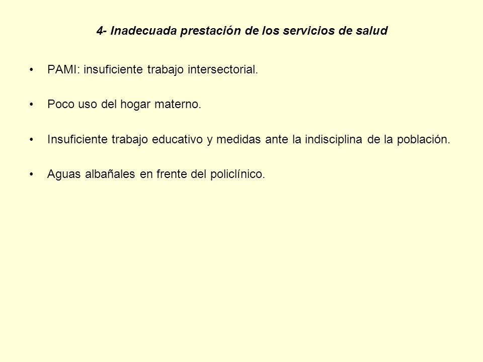 4- Inadecuada prestación de los servicios de salud