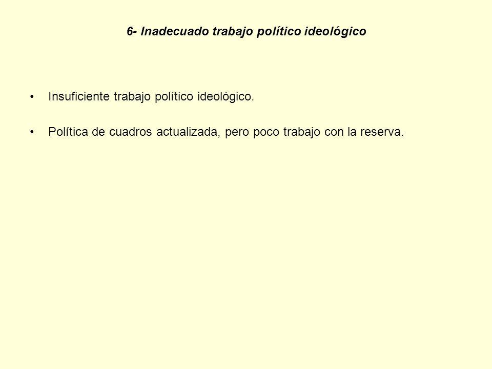 6- Inadecuado trabajo político ideológico