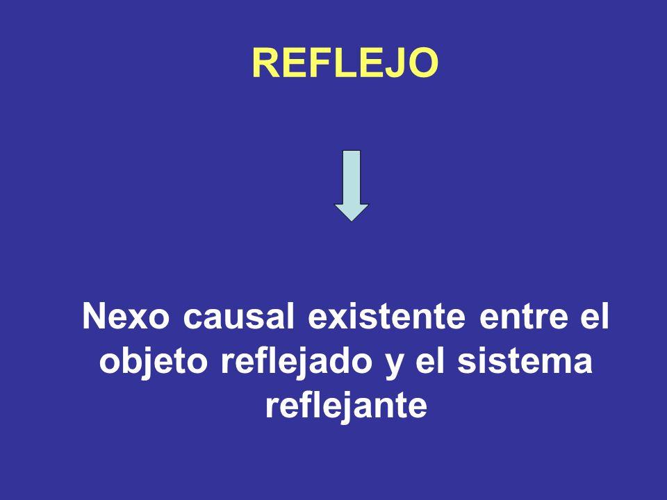 REFLEJO Nexo causal existente entre el objeto reflejado y el sistema reflejante
