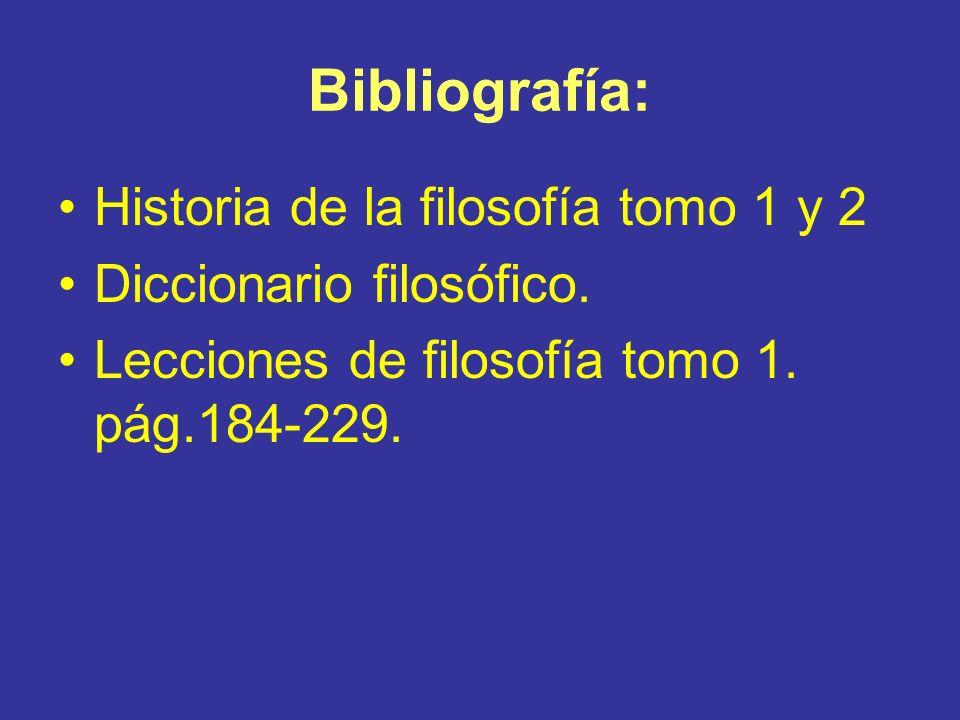 Bibliografía: Historia de la filosofía tomo 1 y 2