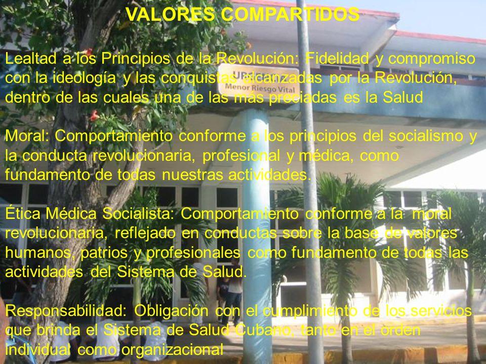 VALORES COMPARTIDOS