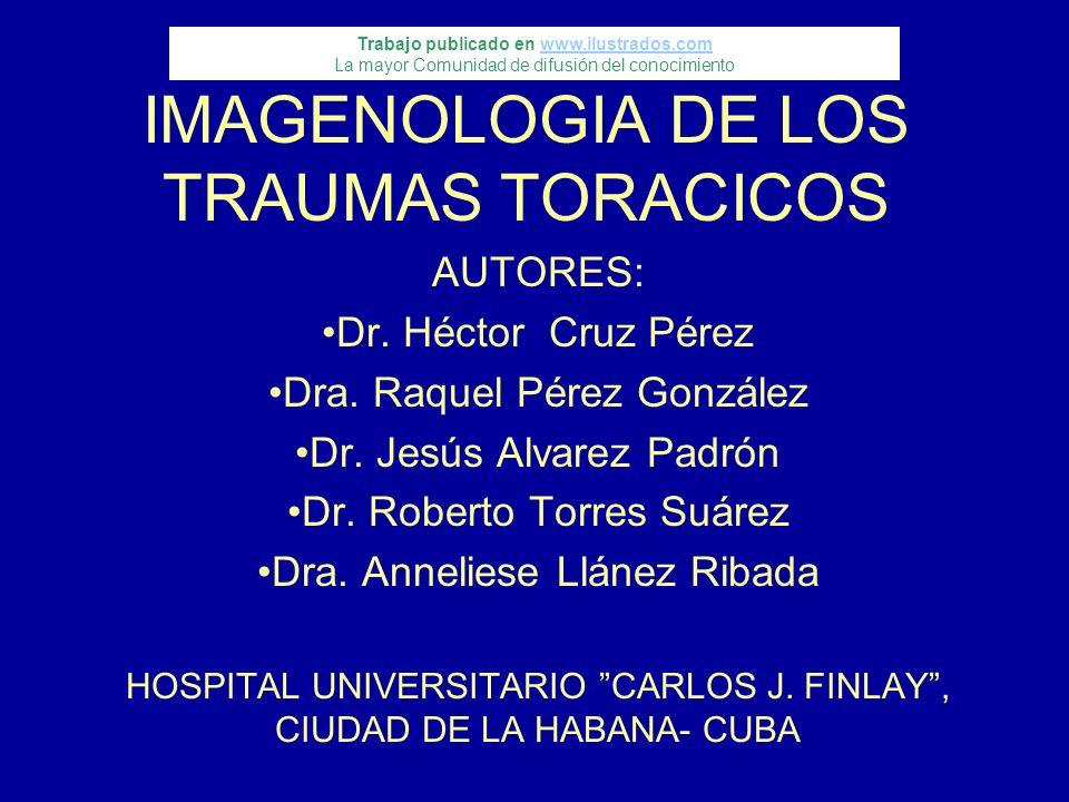 IMAGENOLOGIA DE LOS TRAUMAS TORACICOS