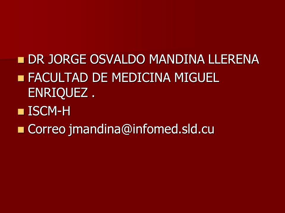 DR JORGE OSVALDO MANDINA LLERENA