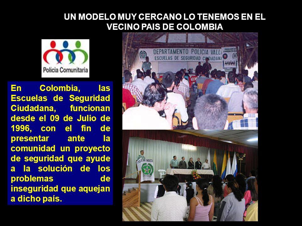 UN MODELO MUY CERCANO LO TENEMOS EN EL VECINO PAIS DE COLOMBIA