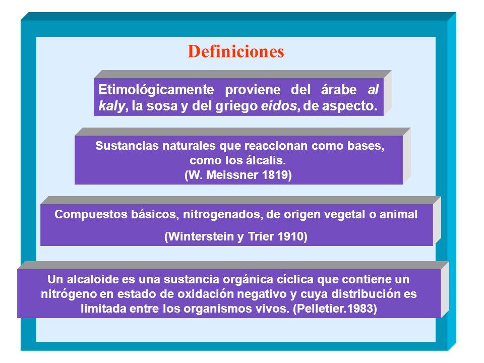 Definiciones Etimológicamente proviene del árabe al kaly, la sosa y del griego eidos, de aspecto.