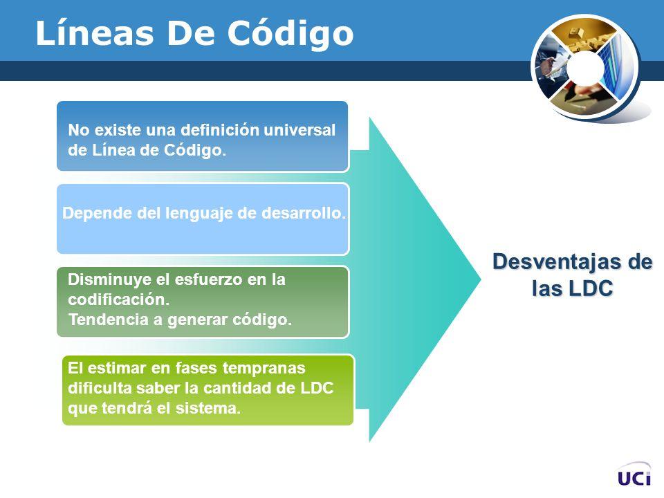 Líneas De Código Desventajas de las LDC