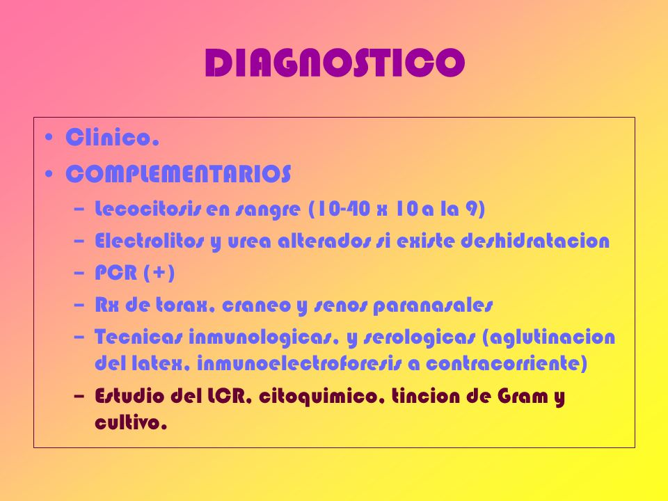 DIAGNOSTICO Clinico. COMPLEMENTARIOS