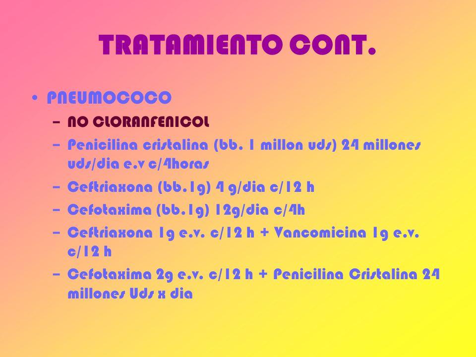 TRATAMIENTO CONT. PNEUMOCOCO NO CLORANFENICOL