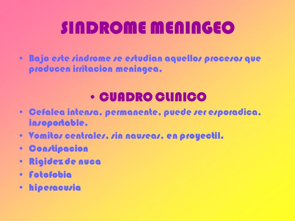 SINDROME MENINGEO CUADRO CLINICO