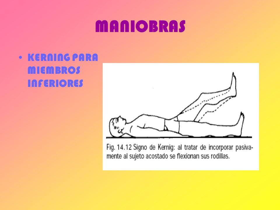 MANIOBRAS KERNING PARA MIEMBROS INFERIORES