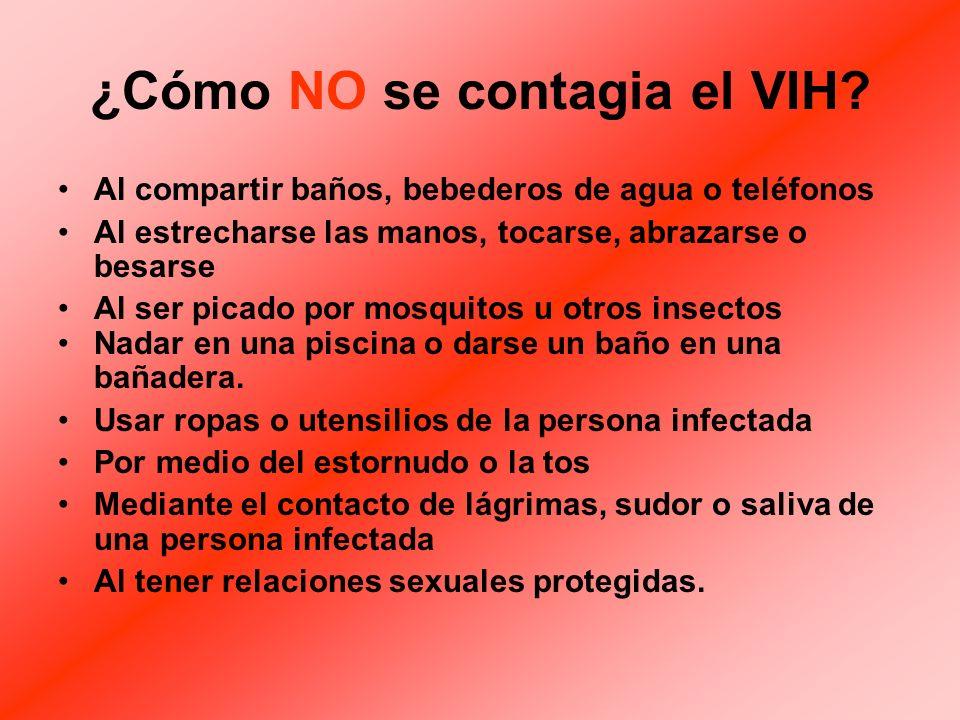 ¿Cómo NO se contagia el VIH