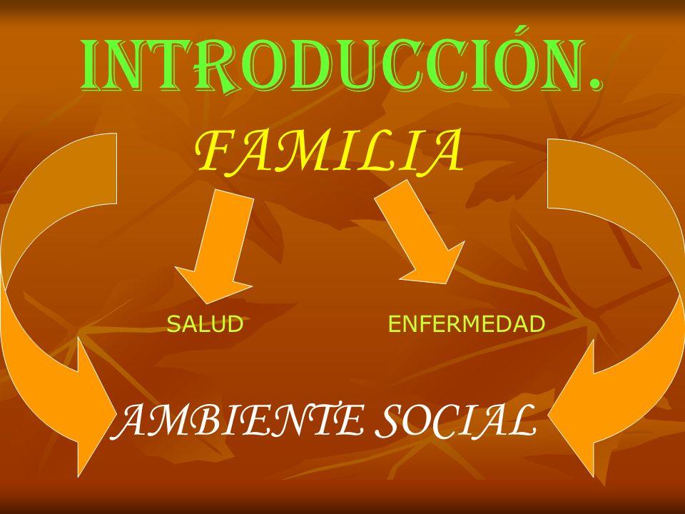 INTRODUCCIÓN. FAMILIA SALUD ENFERMEDAD AMBIENTE SOCIAL