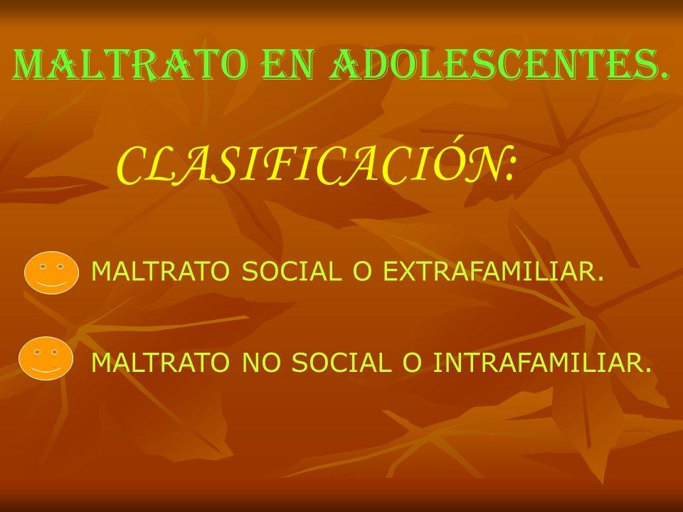 MALTRATO EN ADOLESCENTES.