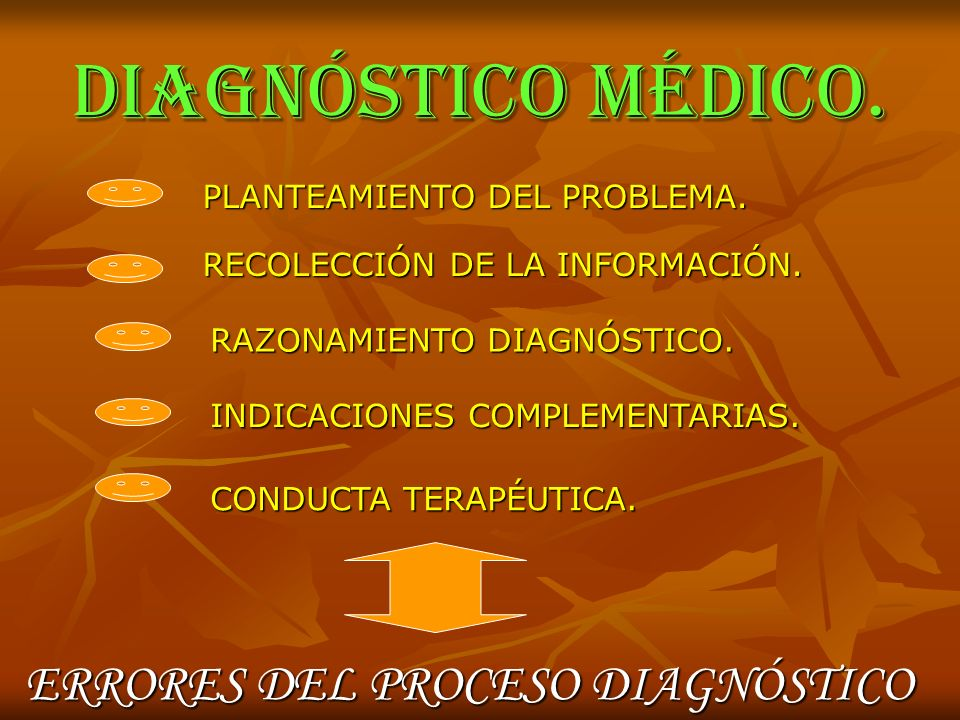 DIAGNÓSTICO MÉDICO. ERRORES DEL PROCESO DIAGNÓSTICO