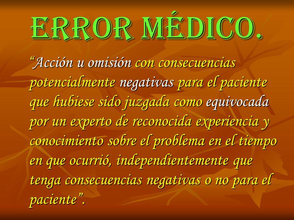 ERROR MÉDICO.