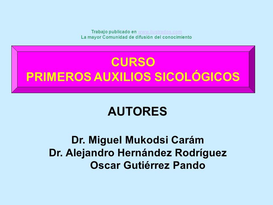 CURSO PRIMEROS AUXILIOS SICOLÓGICOS AUTORES