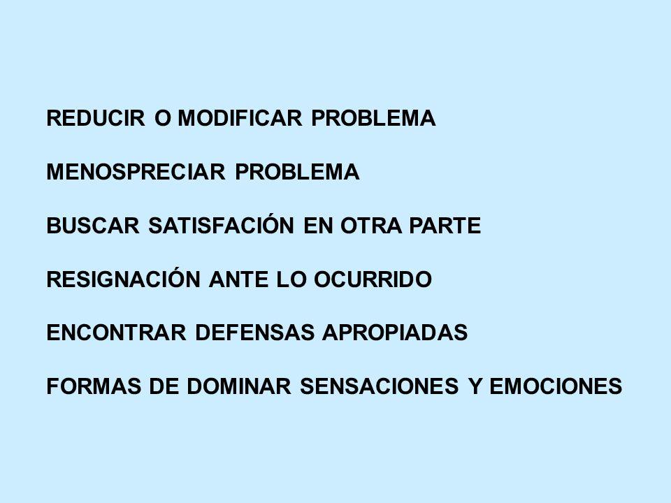 REDUCIR O MODIFICAR PROBLEMA