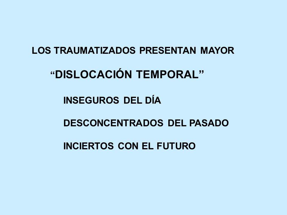 LOS TRAUMATIZADOS PRESENTAN MAYOR