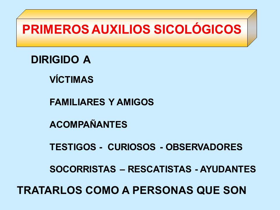 PRIMEROS AUXILIOS SICOLÓGICOS