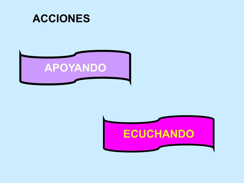 ACCIONES APOYANDO ECUCHANDO
