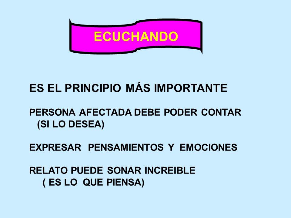 ECUCHANDO ES EL PRINCIPIO MÁS IMPORTANTE