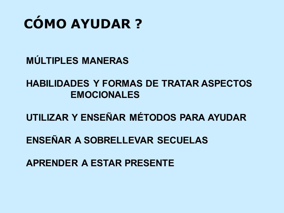 CÓMO AYUDAR MÚLTIPLES MANERAS