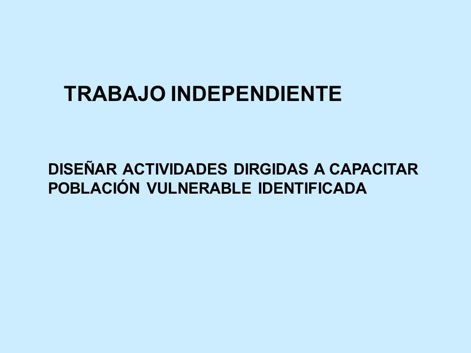 TRABAJO INDEPENDIENTE