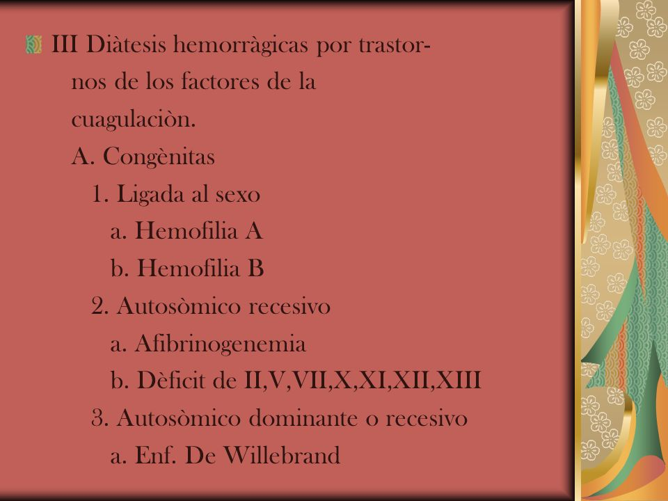 III Diàtesis hemorràgicas por trastor-