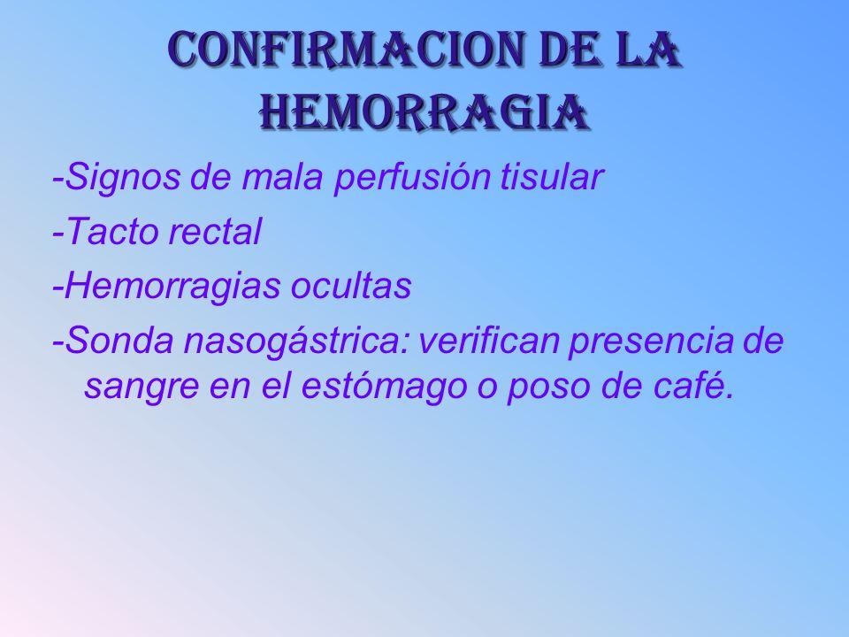 CONFIRMACION DE LA HEMORRAGIA