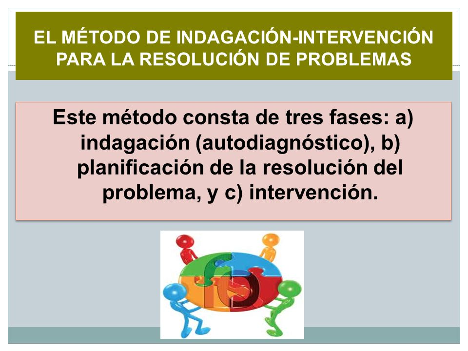 EL MÉTODO DE INDAGACIÓN-INTERVENCIÓN PARA LA RESOLUCIÓN DE PROBLEMAS