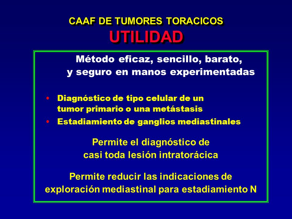 CAAF DE TUMORES TORACICOS UTILIDAD