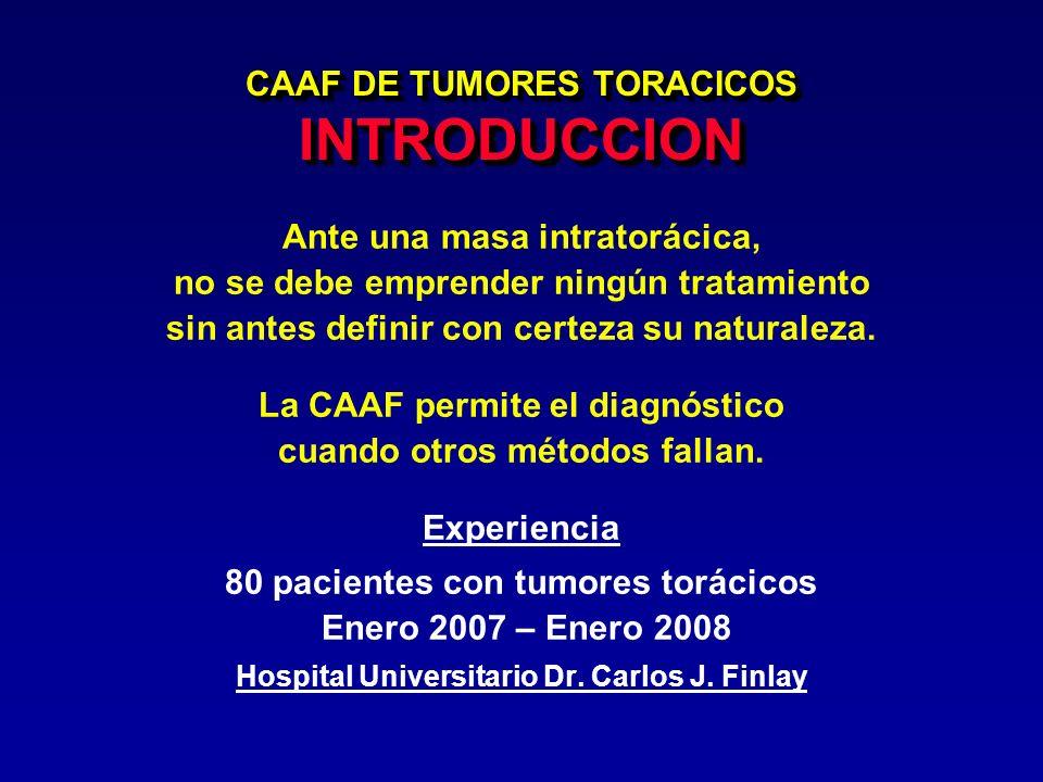CAAF DE TUMORES TORACICOS INTRODUCCION
