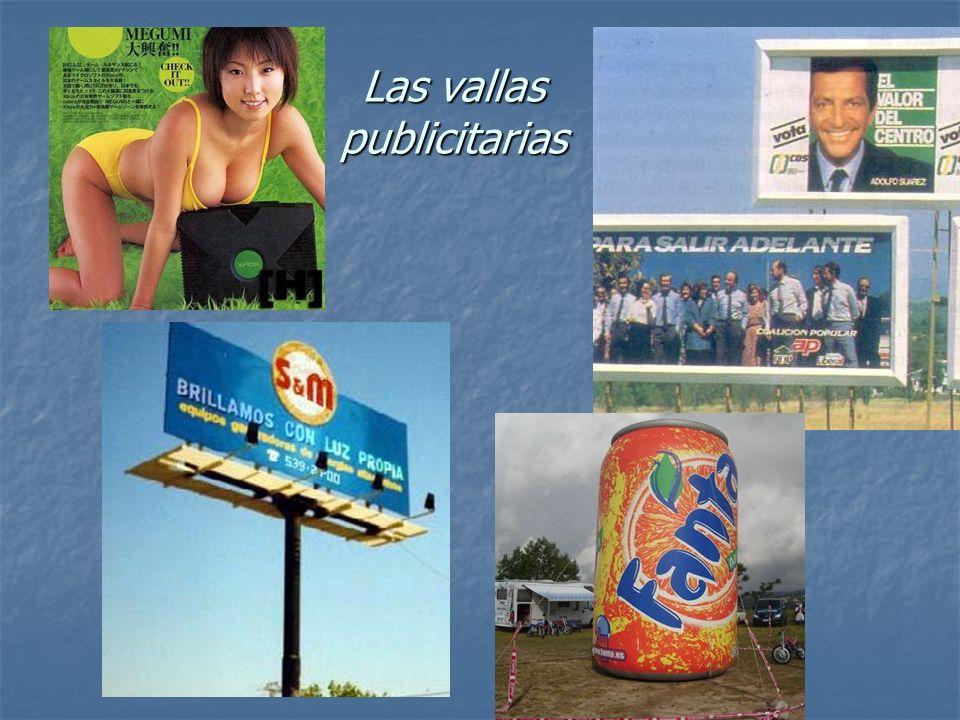 Las vallas publicitarias