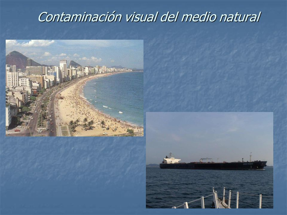 Contaminación visual del medio natural