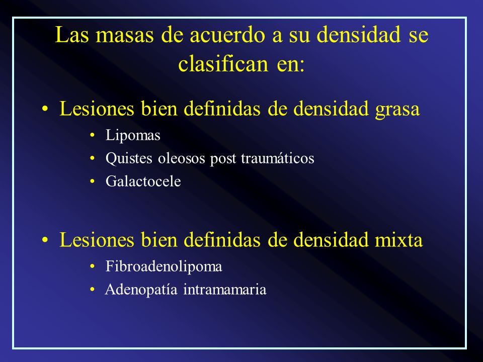 Las masas de acuerdo a su densidad se clasifican en: