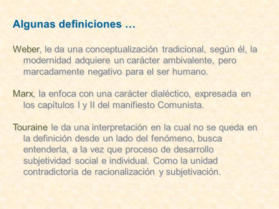 Algunas definiciones …